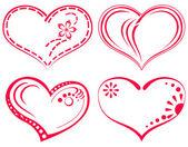 Valentine heart, set — Stock Vector