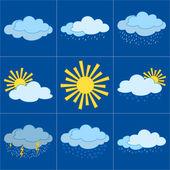 Ange vädret ikoner — Stockvektor