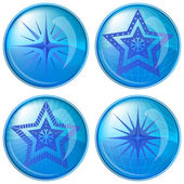 Buttons, stars — Stock Vector