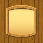 Wooden framework on a wall — Stock Photo
