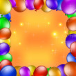 Balloons and gold stars — Stock Photo