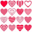 Valentine heart, set — Stock Vector #5577066