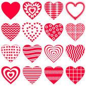 Serce valentine, zestaw — Wektor stockowy