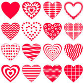Valentine heart, set — Vettoriale Stock