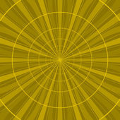 Background abstract yellow radial — Stock Vector