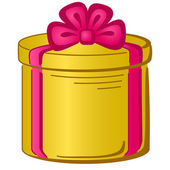 Caja de regalo redondo — Vector de stock