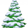 Stock Vector: Fur-tree with snow