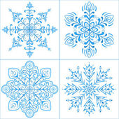 Snowflakes, set — Stock Vector
