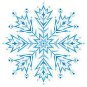 Snowflake figured 1 — Stock Vector