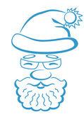 Santa Claus face, pictogram — Stock Vector