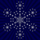 Snowflake from snowflakes 1 — Stock Vector