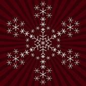 Fiocco di neve da fiocchi di neve 2 — Vettoriale Stock
