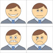 Stock Photo: Office smilies, set