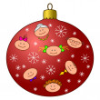 Stock Photo: Christmas-tree decoration with faces