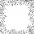 Royalty-Free Stock Photo: Framework from leaves, outline