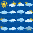 图库照片: Set weather icons