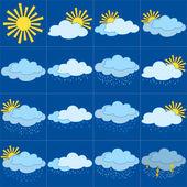 Set weerpictogrammen — Stockfoto