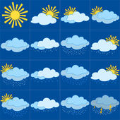 设置的天气图标 — 图库照片