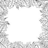 Framework from leaves, outline — Stock Vector