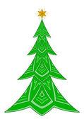 Christmas fir-tree with star — Stock Vector