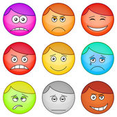 Smilies round, set — Stock Photo