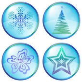 Christmas icons buttons — Stock Vector