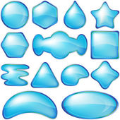 Icons buttons blue, set — Stock Photo