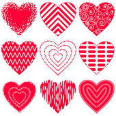 Valentine heart, set — Stock Vector