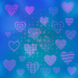Background with valentine hearts — Stock Photo