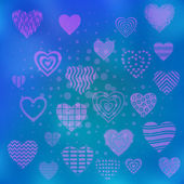 Fundo com os corações dos namorados — Fotografia Stock