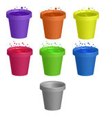 Cups with drinks — Stock Photo