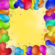 Balloons and stars — Stock Photo