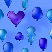 Balloons in the blue sky — Stock Photo