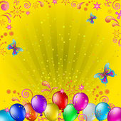 Balloons and butterflies — Stock Vector