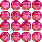 Valentine heart buttons — Stock Vector