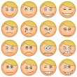 Smilies round, set - Stock Vector