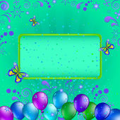 Balloons and frame — Stock Photo