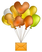 Balloons with mail — Stock Vector