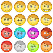 Smilies round, set — Stock Vector