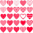 Valentine heart, set — Stock Photo