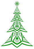 Christmas fir tree, pictogram — Stock Photo