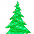 Christmas fir-tree with garland -  