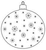 Ball with snowflakes, contours — Stock Photo