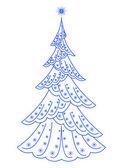 クリスマスのモミの木、ピクトグラム — ストック写真