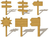 Set of wood signs — Stock Vector