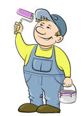 Worker house painter — Stock Vector