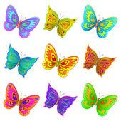 Set butterflies — Stock Vector