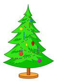 Fur-tree Christmas — Stock Vector