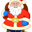 Santa Claus with with bag of gifts — Stock Photo