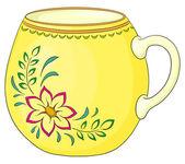 パターンとカップ — ストック写真